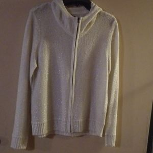 Anne Klein beautiful sequin hooded sweater